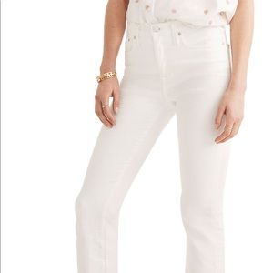 MadeWell white Demi jeans